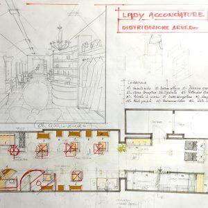 Progetto Sviluppo Total Design Negozio Acconciature